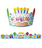 Carson Dellosa Birthday Crowns for Kids—Colorful Paper Party Hats for Kids, Birthday Crown Set With Happy Birthday Message, Classroom Party Decor (30 pc)