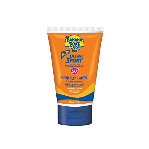 Banana Boat Ultra Sport Sunscreen Lotion, New Formula, SPF 50, TSA Approved Travel Size, 2 Fl Oz, Pack of 3
