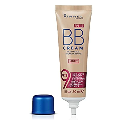 Rimmel London BB Cream, 9-in-1 Lightweight Formula with Brightening Effect, Light, 30 ml (SPF 15 )