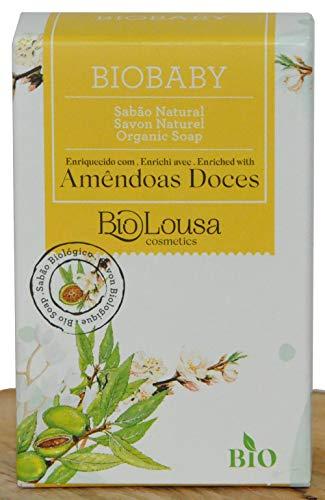 Biobaby, Savon idéal pour les bébés et les peaux fragiles, est très doux et naturel, SAF, BIO, surgras de 8% huile d'amandes douce bio, 100 gr – Idéal pour le lavage fréquent des mains