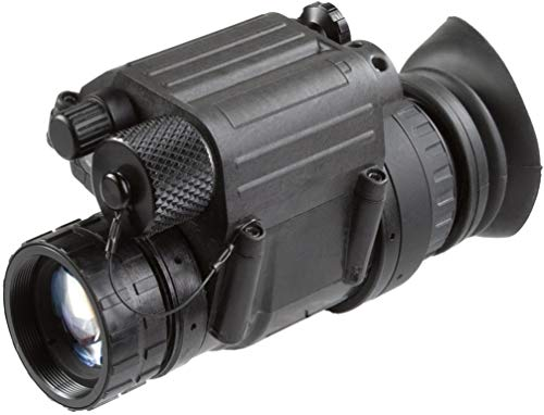 "AGM 11P14122453031 Model PVS-14 NL3 Mil Spec Gen 2+""Level 3"" Night Vision Monocular with Manual Gain, 1x Magnification, 26mm F/1.2 Lens System, 40 FOV, Focus Range 0.25m to Infinity"