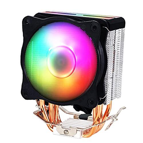 B Blesiya Torre de enfriamiento de Enfriador de CPU Desmontable ARGB LED Ventiladores de 9 cm 4 Heatpipes de Alto Rendimiento para para