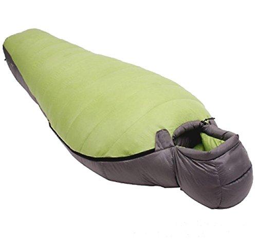 Sac De Couchage Yy.f Momie Facile à Transporter Sports De Plein Air Le Camping Sac De Couchage Randonnée Léger Et Facile Et Confortable (violet Et Vert),Green-180*80cm