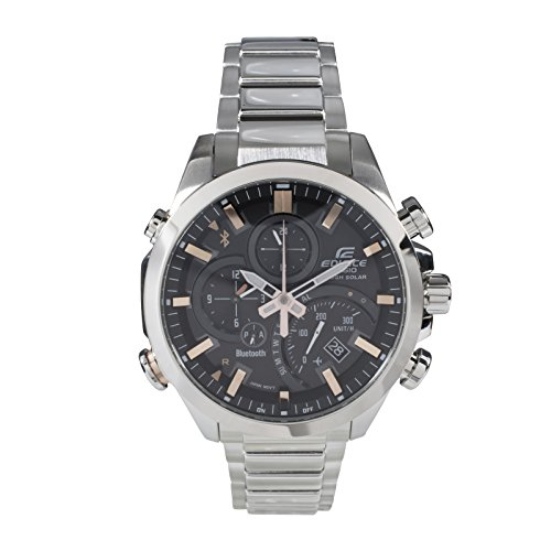 Casio Herren Chronograph Quarz Uhr mit Edelstahl Armband EQB-500D-1A2ER