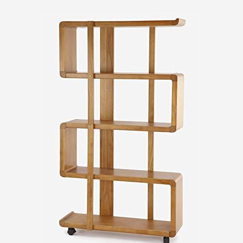 QiXian Regale Organizer für Bücher Bücherregal Bücherregal Endet Ablage Abnehmbares Regal Bodenstehendes Regal Flaschenzug Wohnzimmer Reines Holz Bücherregal Stark Robust, 5-stufig,