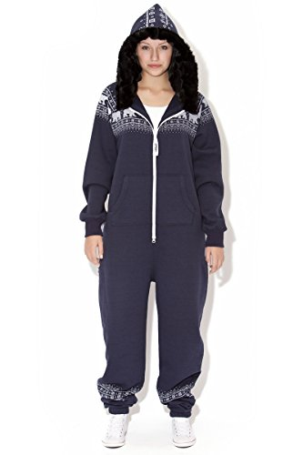 Jumpin Erwachsene Jumpsuit Original, Norwegian Bear Navy, Dunkelblau - 4