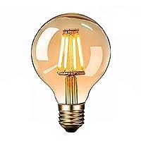 💡【Exquisites Retro-Glühbirne】- Diese klassisches LED Vintage Glühbirne mit wunderschönen Filamenten und besonderen Kugelform, rundum 360-Grad-Licht, exquisites und einzigartiges Kugelform Design mit warm Licht, liefert ein gemütliches und behagliches...