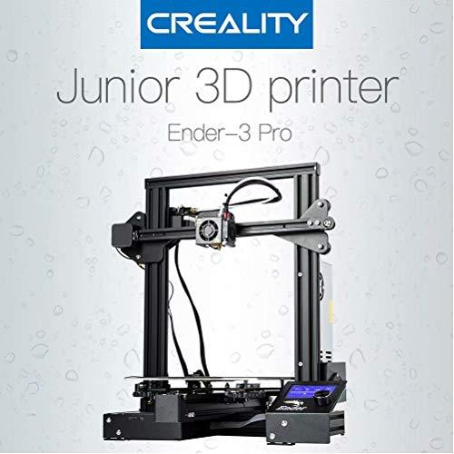 Laecabv Creality Ender 3 Pro 3D Imprimante 3D Machine Nouvellement doux autocollant magnétique FDM Reprendre impression Power Off Heat 5 min - Taille d'impression 220x220x250mm