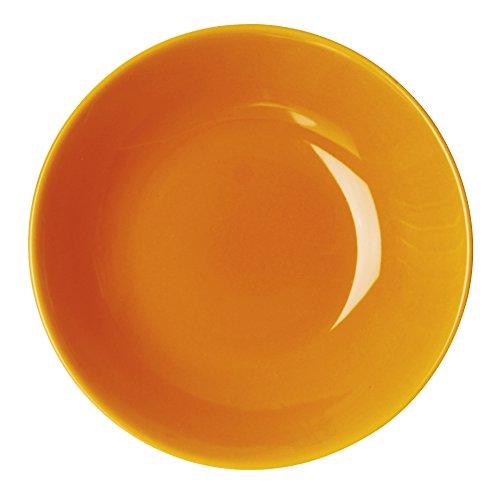 Excelsa Trendy Piatto Fondo, Ceramica, Arancione, 20x20x4 cm