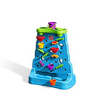 Step2 Waterfall Discovery Wall | Double-Sided Outdoor Water Play Set with 13-Pc Water Accessory Set Multicolor Basic
