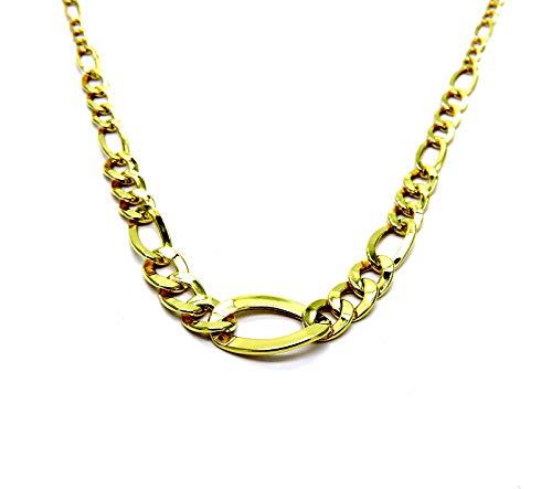 Collana Oro Giallo 18kt (750) Catenina Girocollo Collier Moda Classico Donna