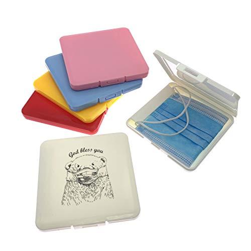 iEay 6-Piece Boîtes de Rangement pour Masques, Mini Boîte de Nettoyage Filtre Boîte de Rangement, Conteneur de Masques Jetables Portatifs Contenant