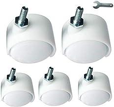 """MU Castors 1,5"""" kółka skrętne, kółka, wyposażenie, kółka do mebli, kółka do biura, śruby M6, białe, hamulce (5 sztuk) do m..."""