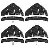 Spoiler posteriore, universale paraurti posteriore diffusore telaio spoiler decorativo deflettore auto modificato 4 pezzi(Modello in carbonio)