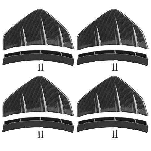 Alerón trasero, difusor de parachoques trasero universal, alerón del chasis, deflector decorativo, coche modificado, 4 piezas(Patrón de carbono)