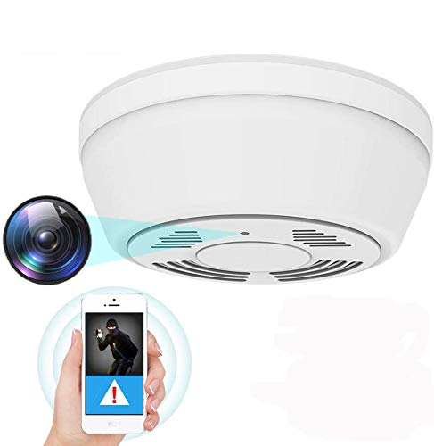 1080P Hidden Camera Smoke Detector , WiFi Camera with 180 Days Battery Power, Motion Activated Security Camera with Night Vision, Nanny Camera for...