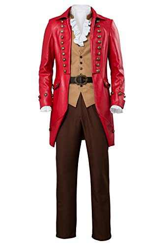 Bilicos The Beast Gaston Traje Cosplay Disfraz Adulto Hombres Rojo S