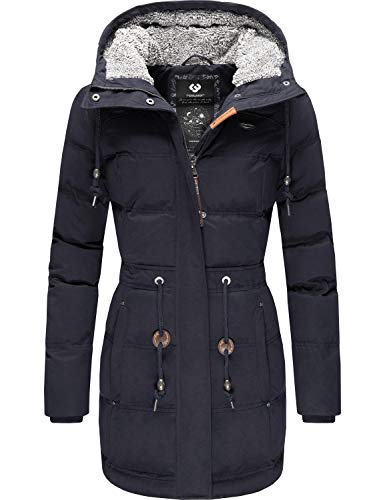 Ragwear Damen Jacke Wintermantel Winterparka Ashani Puffy Navy20 Gr. XXL