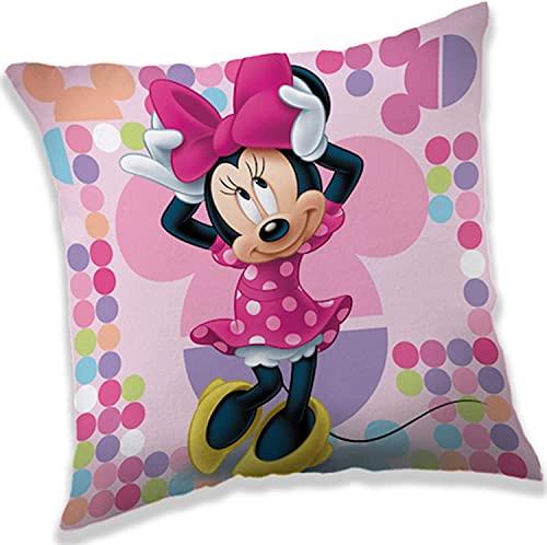 Disney - Cojín de peluche (40 x 40 cm), diseño de Minnie Mouse, color rosa