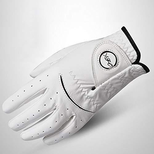 Agelec Golfhandschuh Herren Linkshänder Lammfell Golfhandschuhe Mark Vollleder Rutschfeste Handschuhe (Größe : 24#)