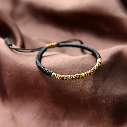 CXWK Pulsera de Cuerda de la Suerte de algodón Trenzado Budista Tibetano brazaletes para Mujeres Hombres Pulseras de la Amistad Hechas a Mano