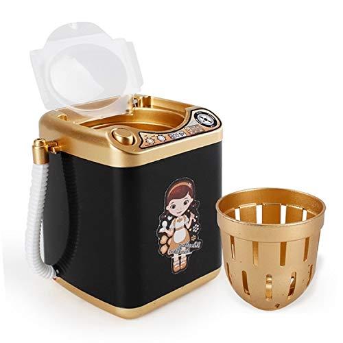 Pinceau de maquillage portable Creative durable robuste Mini multifonction enfants Lave-linge Jouet Beauté éponge Brosses Washer (Color : Noir)