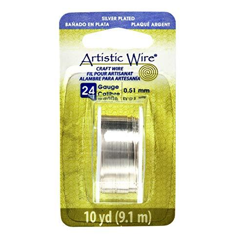 Artistic Draht, versilbert, läuft nicht an, 0,5mm, 9,1m