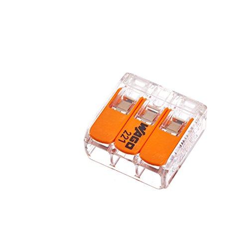 Wago Hebelverbindungsklemme 3 x 0,2-4mm², 10 Stück Packung, BLV221413