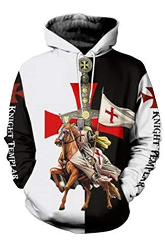Bilicos Abrigo con Capucha Sudadera con Capucha Unisex Templar Knights Armadura Medieval...