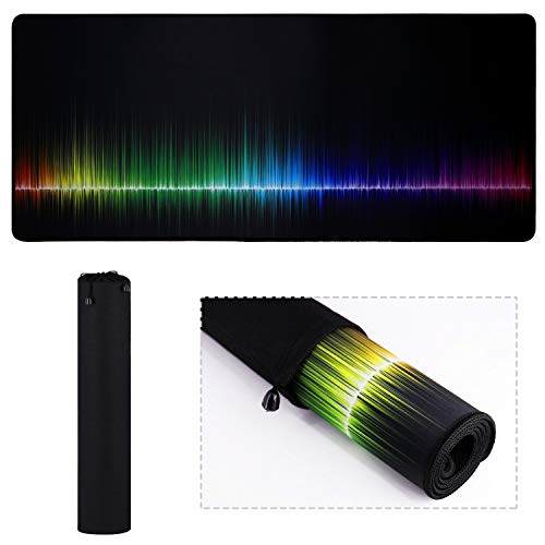 Large XXL Mouse Pad Gaming/Office Extended Rainbow Gaming Work Mouse Pad/Extended Office Desk Pad Long Non-Slip Rubber Mice Pads