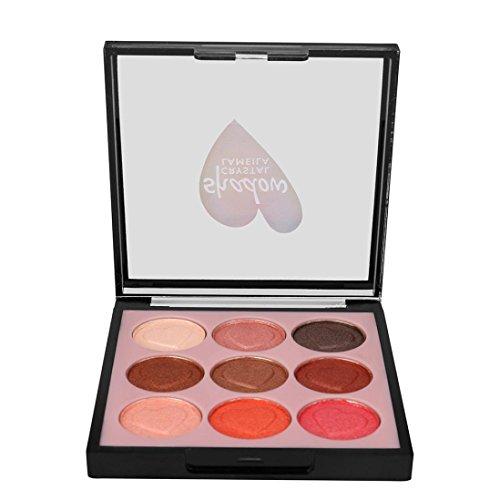 Coloré(TM) Palettes de maquillage 9 Couleur Pearl Glitter Fard à Paupières Poudre Palette Mat Fard à Paupières Cosmétique Maquillage (Multicolor C)