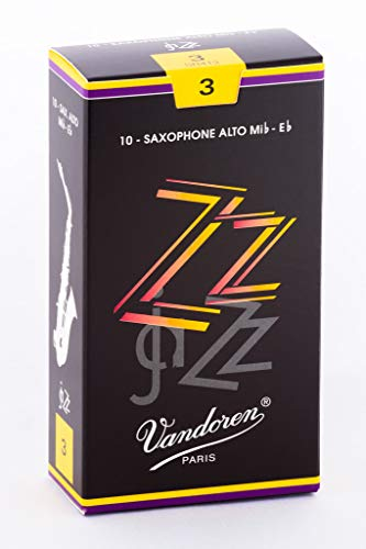 Vandoren ZZ Alto Saxophone Reeds - Box of 10 - Strength 3