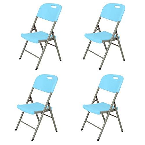 2 Pack - Diseño Silla plegable de alta carga |Duradera única silla |Sillas for sala de estar |Silla cómoda for restaurantes, salas de reuniones, fiestas, salones de clase, Cafeterías, recepción de inv