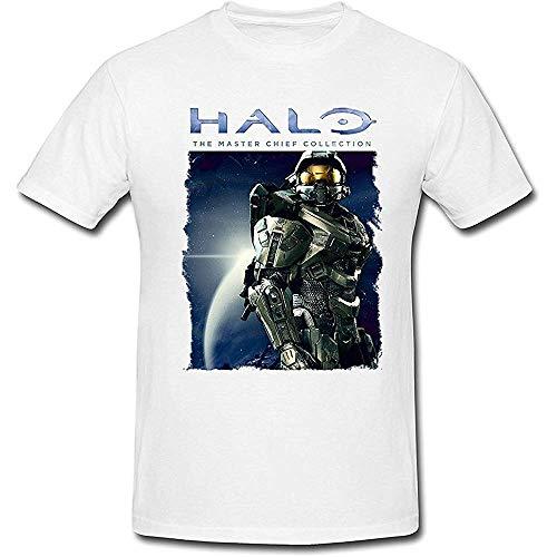UCZShort Sleeve Men's The Master Chief John-117 Halo T-Shirt White X-Large Size:XXL