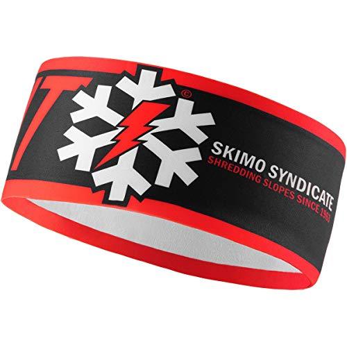 DYNAFIT Graphic Performance Headband Rot-Schwarz, Kopfbedeckung, Größe One Size - Farbe Dawn
