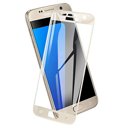 ICHECKEY Panzerglas Schutzfolie für Samsung Galaxy S7[2 Stück], 9H Härte Displayschutzfolie Anti-Kratzen, Anti-Öl, Anti-Bläschen, Ultra Transparenz Panzerglasfolie für Samsung Galaxy S7