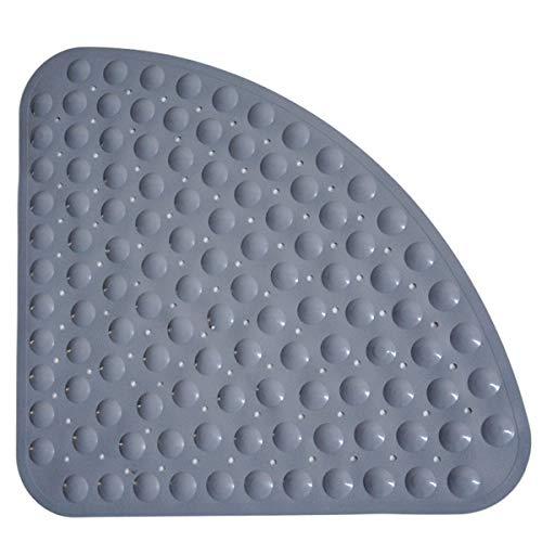 Duschmatten Dusche rutschfest, Antirutschmatte, Antibakteriell, Anti-Schimmel,Viertelkreis, Eckbereich, Badewannenmatten Badematte mit Saugnäpfen für Badewanne Dusche (54 cm x 54 cm, Grau)