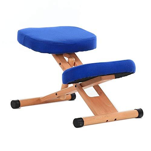 Kniestühle Lernstuhl für Korrekturen für Erwachsene Studentenstuhl aus Holz für Kinder Stuhl für künstliche Mechanik anheben Buckel Korrektiver Haltungsstuhl
