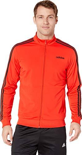 adidas Herren Essentials 3-Stripes Tricot Track Jacket Sweatjacke, Active Red/Black, Small
