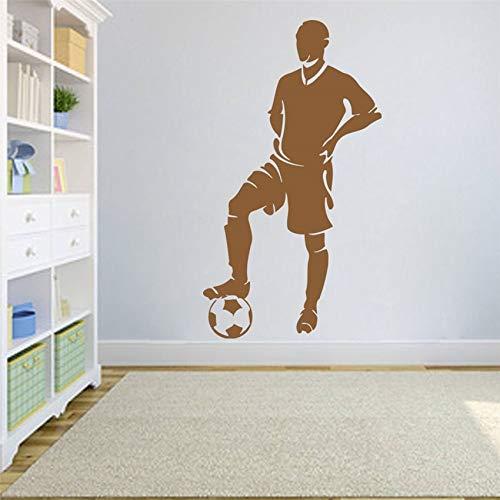 BailongXiao Wandaufkleber Wandtattoo Aufkleber Europäische Fußballmannschaft Spiel Schlafzimmer Design Vinyl Wohnzimmer Aufkleber