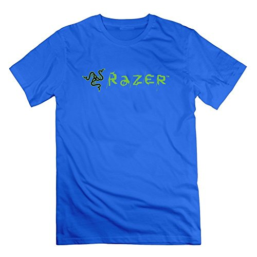 BettyBryant Blue Razer - Camisa para Hombre con Logo Gris