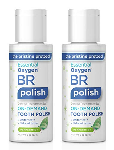 Essential Oxygen BR On-Demand Tooth Polish, Peppermint, 2 Ounce, 2 Count