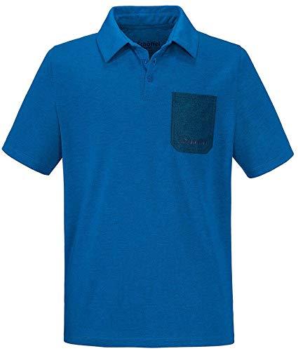 Schöffel Bilbao Polo pour Homme S Bleu/Gris/éléments réfléchissants