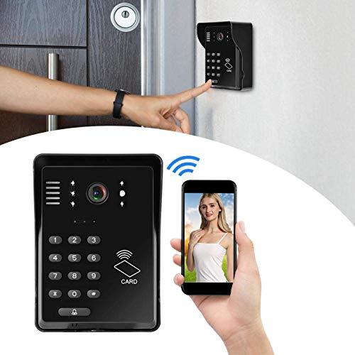 ZCZZ Funciones de cámara y Video Timbre de intercomunicación, Mejora la Seguridad en el hogar (estándar británico de 100-240 V, traducción)