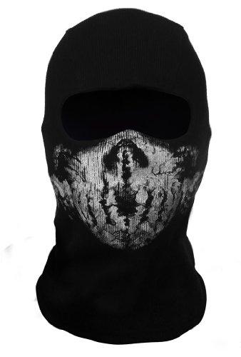 CoolChange Sturmmaske Totenkopf Ghost Motorradmaske Gesichtmaske Maske Call of Duty