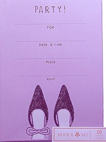 disfrutando de sus compras Invitación de fiesta morada  10 cuentas de de de Mara-Mi  echa un vistazo a los más baratos