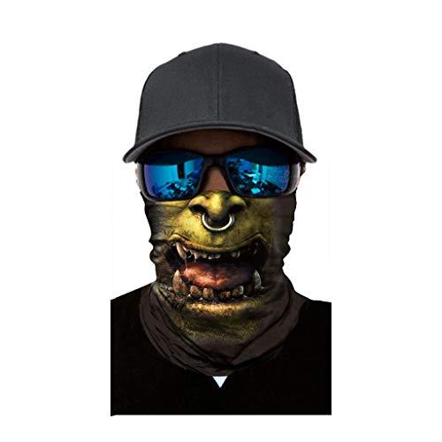 cinnamou Multiunktionstuch Maske Schal Kälteschutz Gesichtsmaske Fishing Totenkopf Schal Skull Bandana Gesichtsmaske Halstuch Ski Motorrad Paintball Halloween Maske (25CM X 50CM, D)