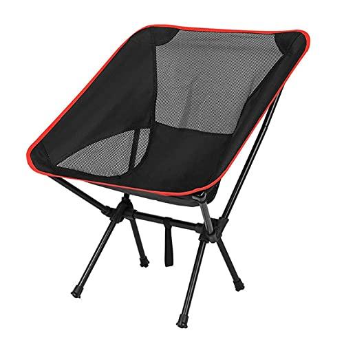 JIASHIQI Silla de Camping Plegable, Ultraligero al Aire Libre Playa Picnic Picnic BBQ Portable Asiento Pesca Camp Picnic Silla de Senderismo (Color : Black)
