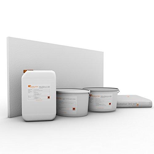 Klimaplatten Renovierpaket 30mm Plus4 ( Kalziumsilikatplatten 30mm + Silikatgrundierung + Silikatkleber 3in1 + Kalkspachtel + Silikatfarbe) (6 m²)