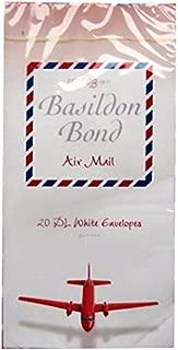 Basildon Bond DL Airmail Envelopes - Pack of 20 - Size 110mm x 220mm (4.3 x 8.7)